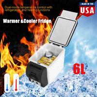 6L Portable Car Refrigerator Mini Multi-Functional Food Warmer Cooler Fridge 12V