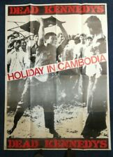 "Dead Kennedys Holiday in Cambodia HUGE POSTER 53.5"" x 38"" vintage punk art RARE"