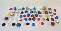 58 x Minifigure hats and headgear genuine Lego Parts job lot ref17895 figure