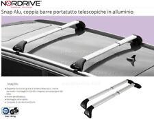 BARRE ALLUMINIO OMOLOGATE Su misura Nissan Navara 4p - railing 08/14 >