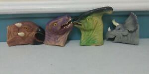 Lot of 4 Dinosaur Rubber/ Latex Hand Puppets