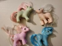 My Little Pony Vintage lot of 4 ponies 1984 1985 1986 G1