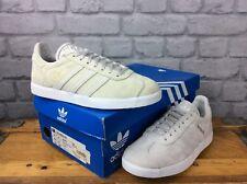 sports shoes c3301 8f774 ADIDAS LADIES UK 4 EU 36 23 ORIGINALS GREY WHITE SUEDE GAZELLE TRAINERS