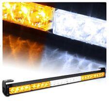 """SUV Car Bumper/Roof 27"""" Amber+White Emergency Warning Strobe LED Light Bar Lamp"""