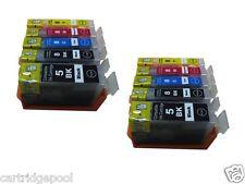 10pk PGI-5BK CLI-8 Ink Cartridge for Canon ip5200 MP500