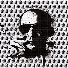B/W HUNTER S THOMPSON  sheet BLOTTER ART psychedelic