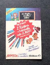 K831-Advertising Pubblicità-1984- RISFERA PELIKAN