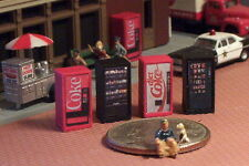 4 N Scale SODA POP Vending Machines Candy and Chips C/D