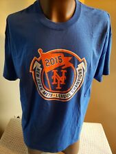 NY Mets New NWT SGA XL SOUVENIR T-Shirt 2015 Leage Champions Vintage Blue