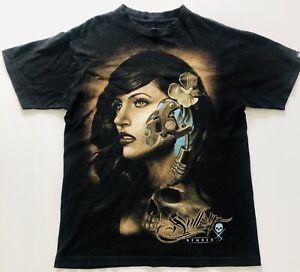 Sullen Art Collective Mens T-Shirt Size Medium Graphic Print Black Tee