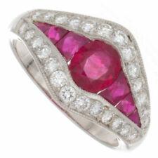 Burma Ruby & Diamond Platinum Ring