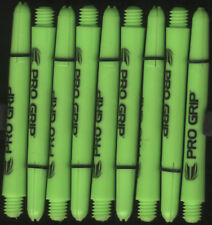 2in. 2ba Electric Green TARGET Pro Grip Dart Shafts & Springs: 1 set of 3