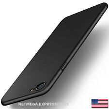 Super Slim Frosted Hard Cover Skin Shell -Black- World's Thinnest iPhone 7 Case