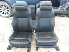 06 BMW 750LI black leather front & rear seats
