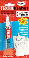 (23,00€/100g) 1 x Meyco TEXTILKLEBER - 13g - Kleber Klebstoff Bastelkleber