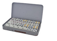 Double Six Color Dot Dominoes 28 Dominoes Double 6 Dominoes Set Game in Tin Box