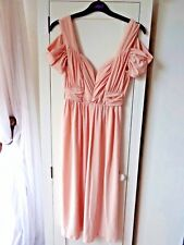 ASOS Dress UK 10 Nude Pink Cold Shoulder Open Back With Tags