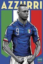 Poster Mario Balotelli Super Italien WM Brasilien 2014 Football Fußball Fotos 2