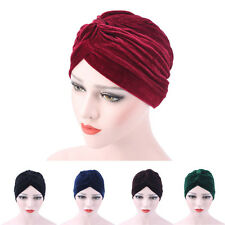 femmes velours musulmane ébouriffé Cancer chimio chapeau bonnet écharpe TURBAN