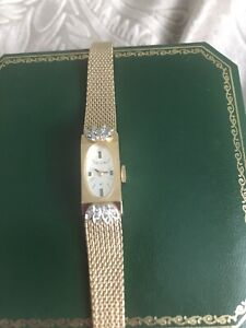 Ladies 10k Gold Filled Diamond Cocktail Watch