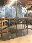 TUSCAN OLD WORLD IRON ARCHED SCROLL GARDEN/WINE CELLAR GATE 5ft. WIDE 6FT TALL