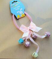 Easter Door Knob Hanger Pink Bunny Bells