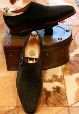 Edward Green 'Ashton' Navy Suede Monkstrap Shoes - UK9/9.5 - Superb