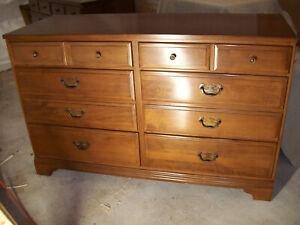 PAIR Vintage KLING Colonial Solid MAPLE 6 Drawer Dresser 2 of 5 pcs Bedroom set