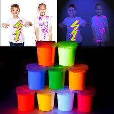 Leuchtfarbe UV Neon Glow-Effekt Kunst DIY Fluoreszierende Accessoire Kinder 90ml