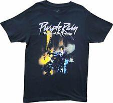 New Men's Prince Purple Rain Motorcycle Album Cover Vintage Retro Black T-Shirt