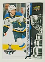 72018-19 Upper Deck 2019 STANLEY CUP CHAMPIONS BLUES SET #16 IVAN BARBASHEV RARE