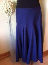"""Designer 'WRAP' Skirt Size 10 L31"""" W33"""" Navy Blue Linen Mix Excellent Condition"""