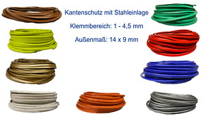 1-4,5mm Kantenschutz PVC Kantenschutz Stahleinlage Kederband Kantenschutzprofil