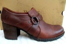 Vtg 90'S.Born.Brown.Leat her.Chunky Heel.Oxford.Shoes.New Old Stock.sz 11