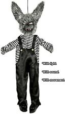 1.3m Animated Hanging Terror Teddy Halloween Horror Party Decoration Prop