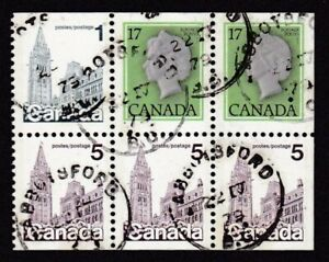 CANADA #797a USED HOUSES OF PARLIAMENT & ELIZABETH II BOOKLET BANE