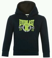 Boys Infant Everlast Hoody Jumper Over The Head Navy With Lime Print 3-4 Years