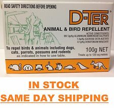 D-ter Animal & Bird Deterrent 100g Repels Dogs Cats Possums Birds Rodents