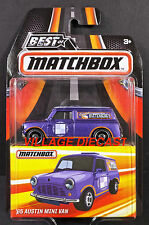 2016 Matchbox Best of the World '65 Austin Mini Van PURPLE/BATTENBERG'S/MOC