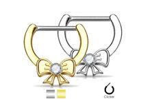 Piercings color principal oro de cristal de latón