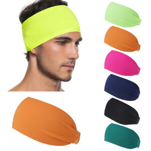 Color Sports Headband Running Hairband Fitness Sweat Bands Yoga Hair Bands