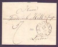 Vorphilabrief Bremen 1822 mit großem Schlüsselstempel nach London (543)