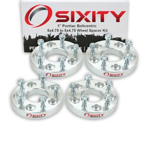 """4pc 1"""" Wheel Spacers for Pontiac Firebird Prix Adapters Lugs Studs 5x4.75 dz"""