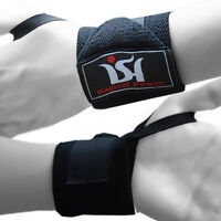 Weight Lifting Gym  Wrist Wraps Power Hand Support Bandage Training Straps pair
