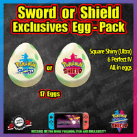 Pokemon Sword or Shield EXCLUSIVES Shiny Pack ✨ All in Eggs - Perfect 6IV ✨