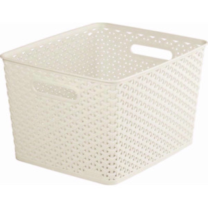 Curver My Style Rattan Basket 18L Large white free & fast dispatch