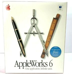 APPLE APPLEWORKS 6 SOFTWARE FOR MAC M8389LL/B VERSION 6.2.2 - NEW