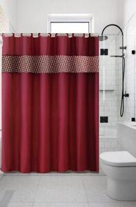 "13PC SET CHIC BATHROOM BATH PRINTED FABRIC SHOWER CURTAIN 70"" X 72"" NEW DESIGNS"