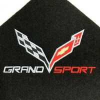 NEW BLACK Trunk Deck Mat 2014-2017 CORVETTE C7 Grand Sport Logo Convertible