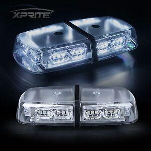 Xprite 36 White LED Strobe Beacon Light Cab Roof Flash Emergency Warning Trucks